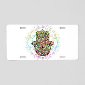 Hamsa Hand Amulet Psychedel Aluminum License Plate