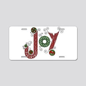 Celtic Christmas Joy Aluminum License Plate