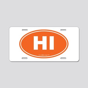 Hawaii Euro Oval Aluminum License Plate