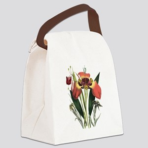 Vintage Garden Flowers Canvas Lunch Bag