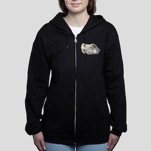 Baby Polar Bear Women's Zip Hoodie