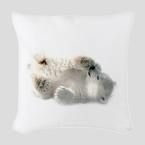 Baby Polar Bear Woven Throw Pillow