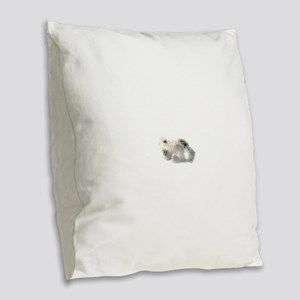 Baby Polar Bear Burlap Throw Pillow