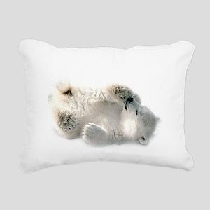 Baby Polar Bear Rectangular Canvas Pillow