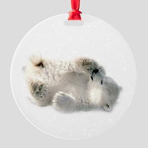 Baby Polar Bear Round Ornament