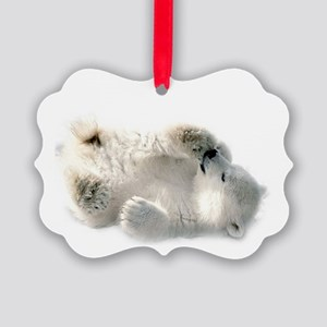 Baby Polar Bear Picture Ornament
