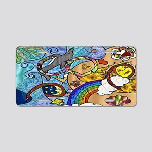 Psychedelic Beach Aluminum License Plate