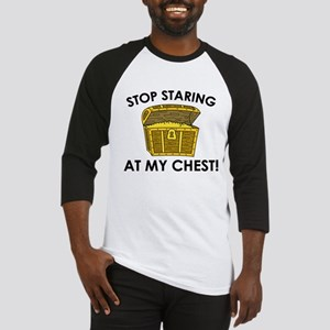 Stop Staring At My Chest Baseball Jersey