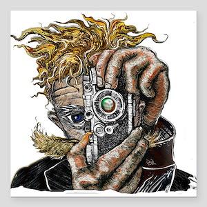 "Photographer ART Square Car Magnet 3"" x 3"""