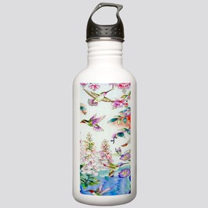 Hummingbirds Flowers L Stainless Water Bottle 1.0L