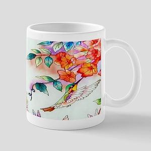 Hummingbirds Flowers Landscape Mugs