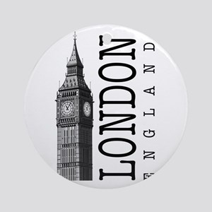 London Big Ben Ornament (Round)