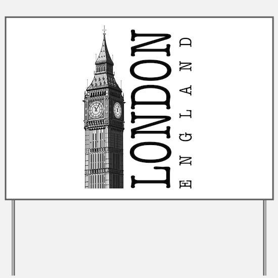 London Big Ben Yard Sign