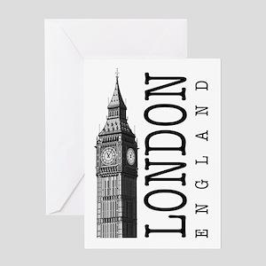 London Big Ben Greeting Cards