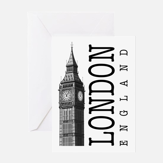 London Big Ben Greeting Cards