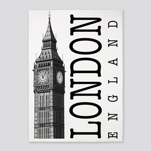 London Big Ben 5'x7'Area Rug