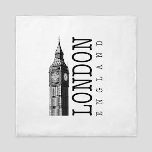 London Big Ben Queen Duvet