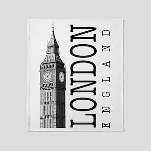 London Big Ben Throw Blanket