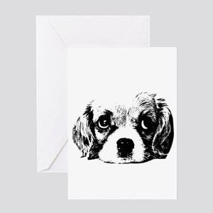 Sad Puppy Face Greeting Cards