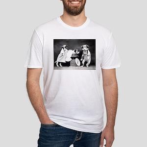 vintage dog parents baby puppy black white T-Shirt
