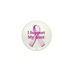 I Support My Aunt Mini Button (100 pack)