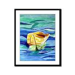 Boat at Sea Framed Panel Print