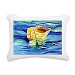 Boat at Sea Rectangular Canvas Pillow