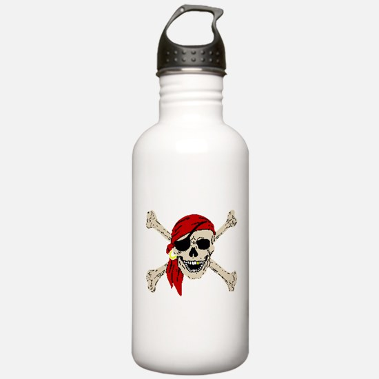 piratesSkull2Atrans.png Water Bottle