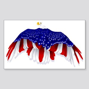 American Eagle Flag Sticker (Rectangle)
