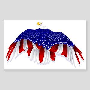American Eagle Flag Sticker (Rectangle)
