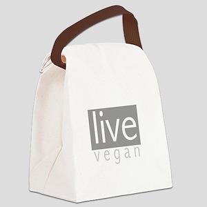 Live Vegan Canvas Lunch Bag