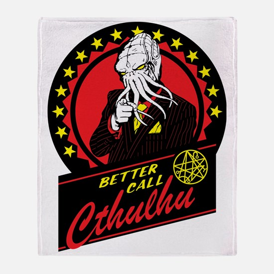 Better Call Cthulhu Throw Blanket