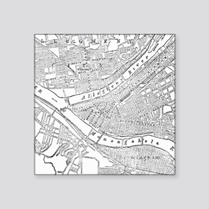 Vintage Map of Pittsburgh (1885) Sticker