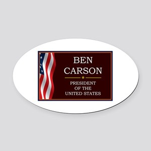 Ben Carson for President V3 Oval Car Magnet