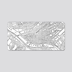 Vintage Map of Pittsburgh ( Aluminum License Plate