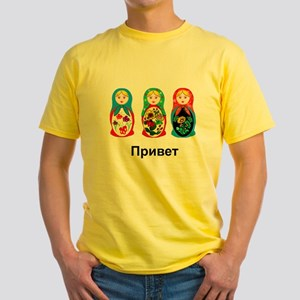 Hello-goodbye Nesting Dolls Yellow T-Shirt