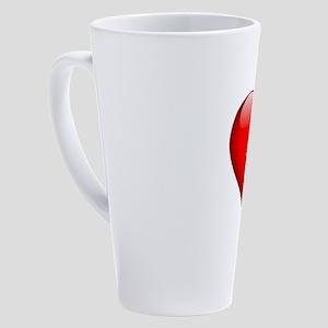 Kathy's Heart & Cross 17 oz Latte Mug