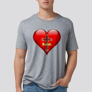 Sarah's Sacred Heart Mens Tri-blend T-Shirt