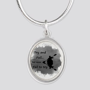 Never Fail To Try Motivational Quote Necklaces