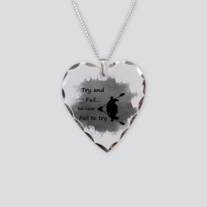 Never Fail To Try Necklace Heart Charm