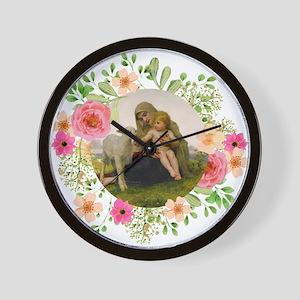 Virgin and Lamb Wall Clock