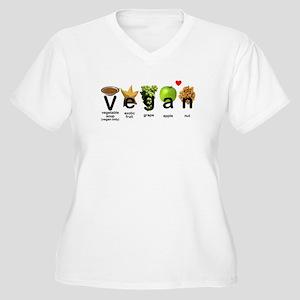 Vegan Visual Reference #1 Women's Plus Size V-Neck