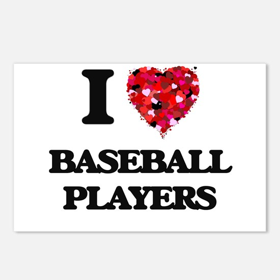 I love Baseball Players Postcards (Package of 8)