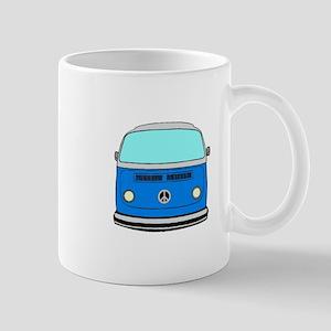 blue camper Mugs