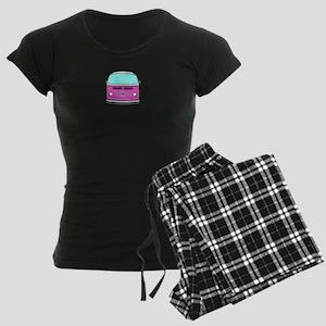 pink camper Women's Dark Pajamas