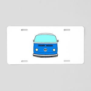 blue camper Aluminum License Plate