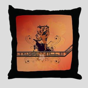 Skadeboarder Throw Pillow
