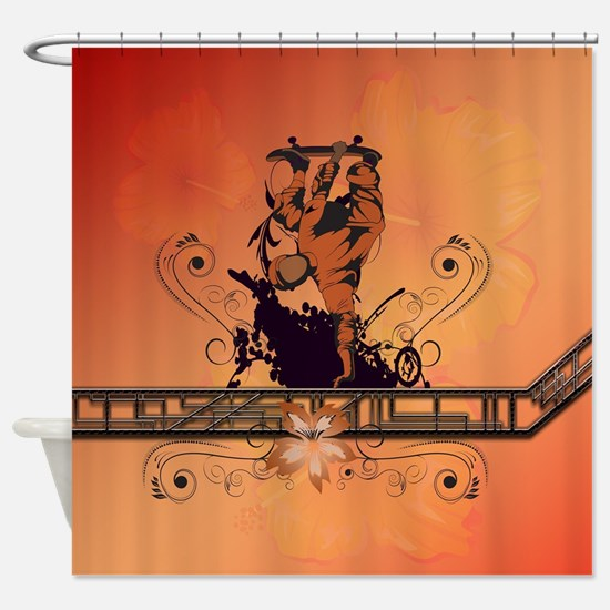Skadeboarder Shower Curtain