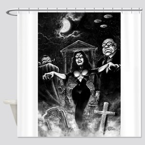 Plan 9 Vampira Shower Curtain