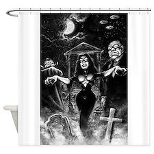 Plan 9 Vampira Shower Curtain